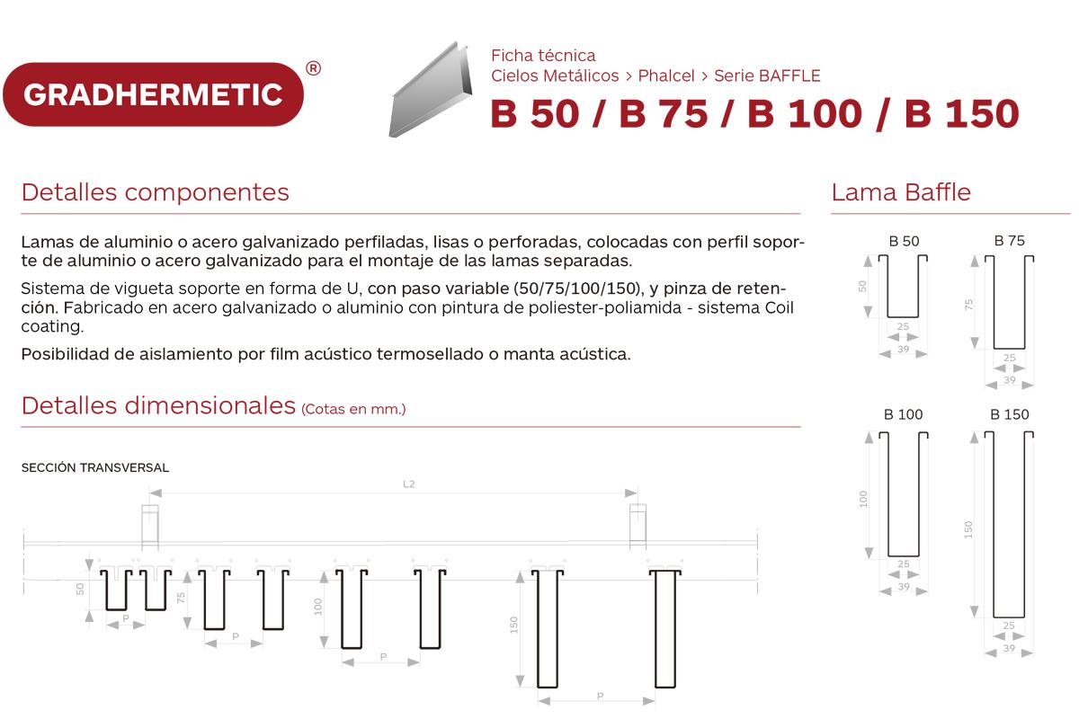 Cielo Phalcel  BAFFLE B 50 / B 75 / B 100 / B 150