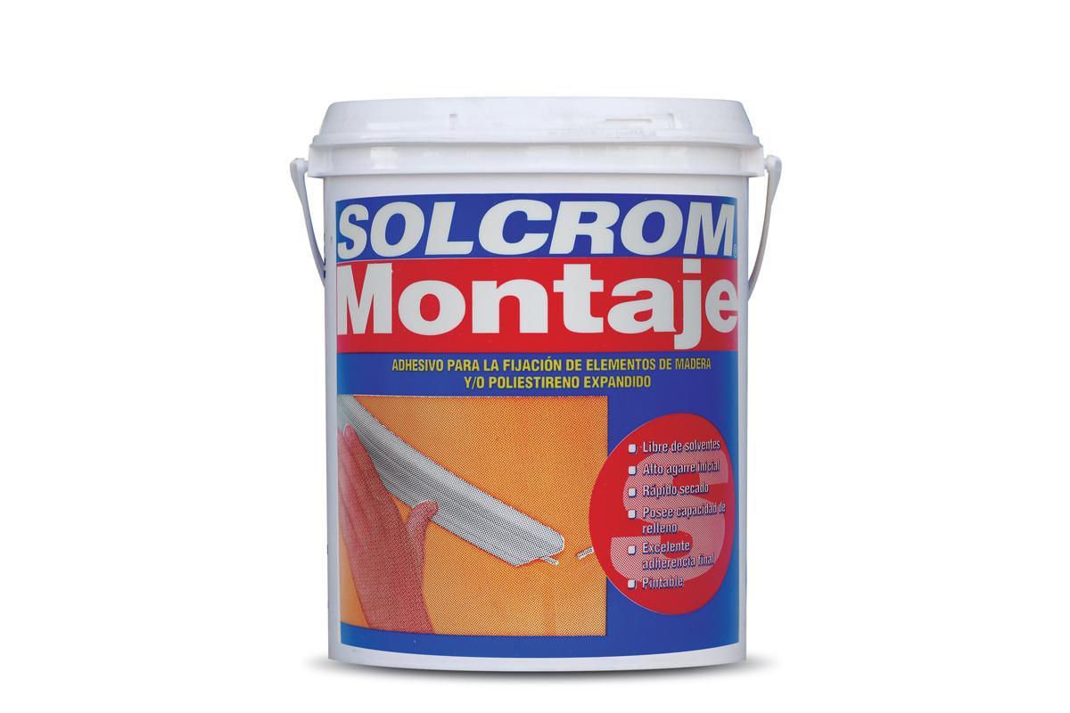 Adhesivo Solcrom montaje
