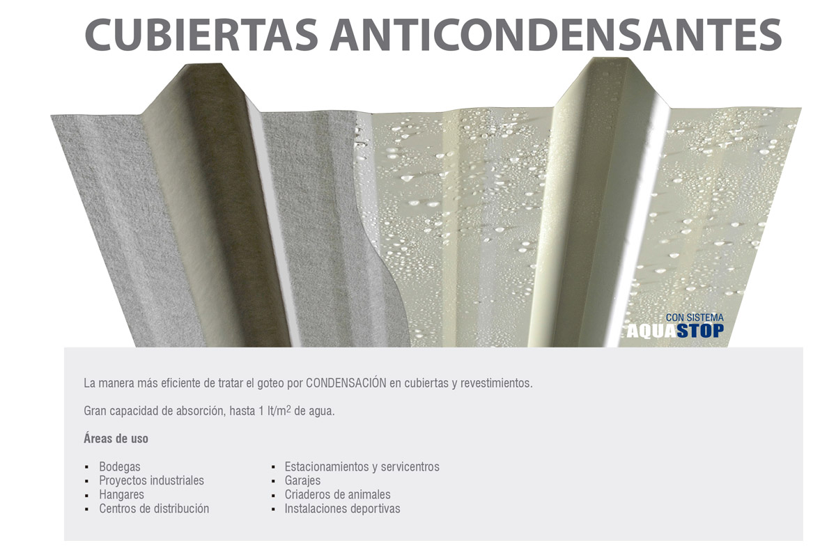 CUBIERTAS ANTICONDENSANTES